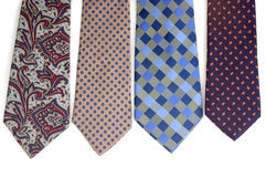 Four ties Royalty Free Stock Photos