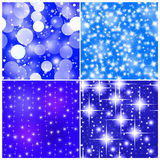 Four tile seamless abstract christmas background Stock Image