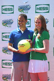 Four-time Olympic gold medalist Missy Franklin co-host with TV personality Quddus at Arthur Ashe Kids Day 2013 Stock Image
