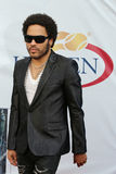 Four times Grammy Award winner Lenny Kravitz at the red carpet before US Open 2013 opening night ceremony Royalty Free Stock Photography