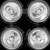 Four tin cans Royalty Free Stock Image