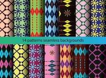 Four tine patterns backgrounds royalty free illustration