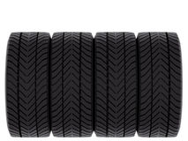 Four Tires Royalty Free Stock Photos