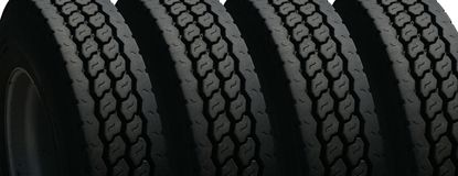 Four tires Royalty Free Stock Photo