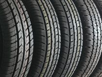 Four tires Stock Images