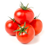 Four tomato isolated on a white background Stock Images