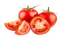 Four tomatoes Stock Photos