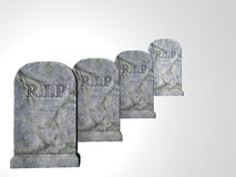 Four Tombstones Stock Image