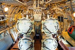 Torpedo ventages inside of a submarine Royalty Free Stock Photo
