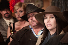 Four Tough Old West Characters Royalty Free Stock Photo