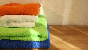 Four towels closeup Royalty Free Stock Photography