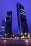Four Towers Business Area in Madrid at night Stock Photos