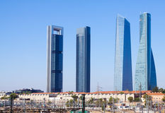 Four Towers Business Area. Madrid Stock Photography