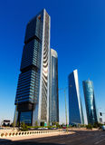 Four Towers Business Area. Madrid, Spain Royalty Free Stock Image