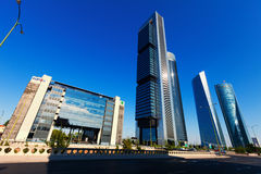 Four Towers Business Area. Madrid Royalty Free Stock Images