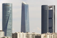 Four towers skyscrapers finance area in Madrid, Spain Stock Photography