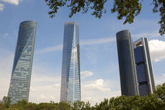 Four towers skyscrapers finance area in Madrid, Spain Stock Photo