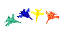 Four toy planes Royalty Free Stock Images