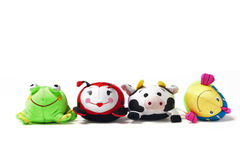Four Toys in a Row Stock Image