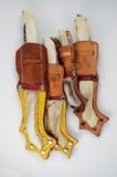 Four traditional Finnish knife puukko Stock Photo