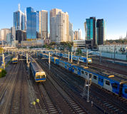 Four trains Royalty Free Stock Photo