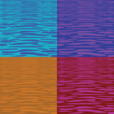 Four tranquil water pattern Stock Photos