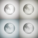 Four transparent moons Stock Image