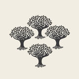 Four trees Royalty Free Stock Photo