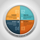 Four Trianglish Circle Infographic Royalty Free Stock Photos