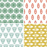 Four tribal shapes abstract geometric patterns and Royalty Free Stock Image