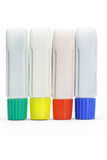 Four tubes of color paints Stock Image