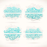 Four turquoise frames Royalty Free Stock Photography