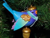 Four Calling Birds ornament on tree. Stock Photography
