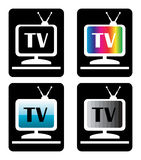 Four tv icons Royalty Free Stock Images