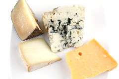 Four type of delicatessen cheeses Stock Photo