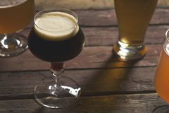 Four types of beer Royalty Free Stock Image