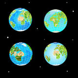 Four types of the globe for design Royalty Free Stock Image