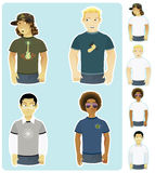Four Types of Guys. Four different type of guys Stock Photography