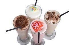 Four types of milkshake drink Stock Photography