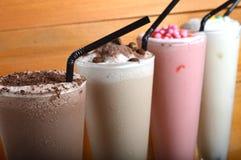 Four types of milkshake drink Royalty Free Stock Images