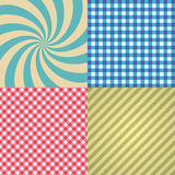 Four types of retro texture and patterns eps10 Stock Image