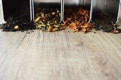 Four types of tea stock photo