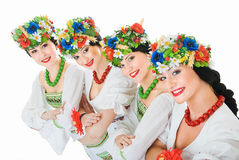 Four ukrainian dancers Royalty Free Stock Image