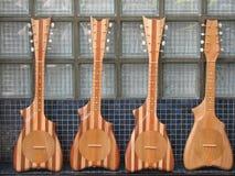 Four ukuleles Stock Photo