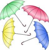 Four umbrella Stock Photo