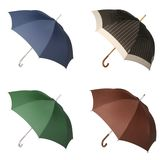 Four Umbrellas Royalty Free Stock Photography