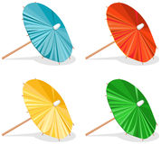 Four Umbrellas Stock Photos
