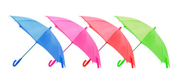 Four umbrellas the isolated Royalty Free Stock Photography