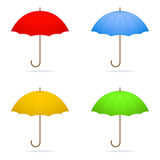 Four umbrellas. Stock Photos