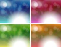 Four unique background templates Stock Photo